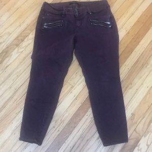Torrid Size 20R Maroon Skinny Jeans w/ Stretch